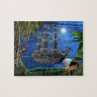 Mystical Moonlit Pirate Ship Jigsaw Puzzle