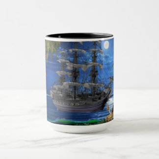 Mystical Moonlit Pirate Ship Mug