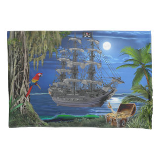 Mystical Moonlit Pirate Ship Pillowcase