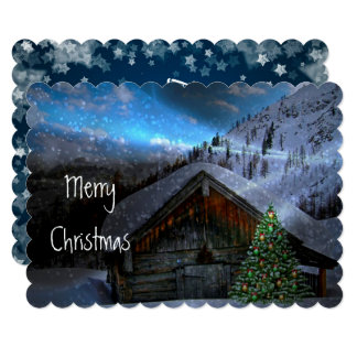 Mystical Night Christmas Custom Card