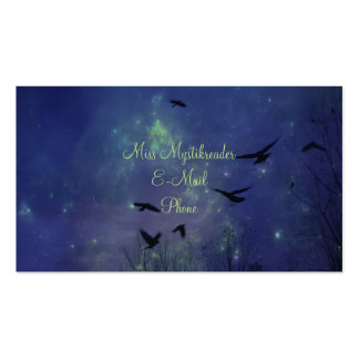 Mystical Night Crows Pack Of Standard Business Cards