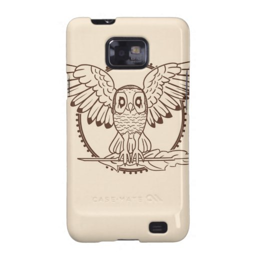 Mystical Owl in Flight Samsung Galaxy S2 Covers
