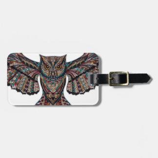 Mystical Owl Luggage Tag