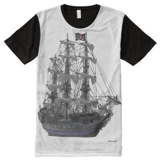 Mystical Pirate Ship All-Over Print T-Shirt