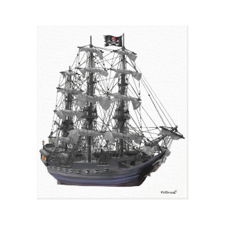 Mystical Pirate Ship Canvas Print
