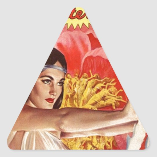 Mystical Priestess Triangle Sticker