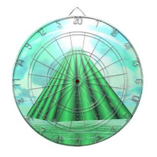 Mystical pyramid - 3D render Dartboard