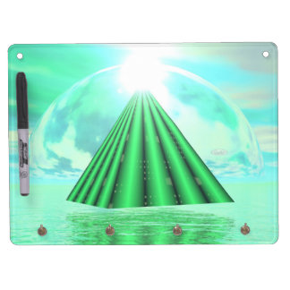 Mystical pyramid - 3D render Dry Erase Board With Key Ring Holder