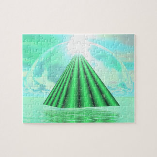 Mystical pyramid - 3D render Jigsaw Puzzle