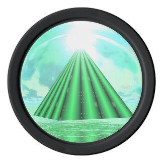 Mystical pyramid - 3D render Poker Chips