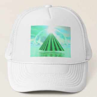 Mystical pyramid - 3D render Trucker Hat