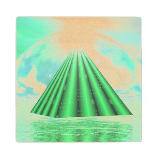 Mystical pyramid - 3D render Wood Coaster