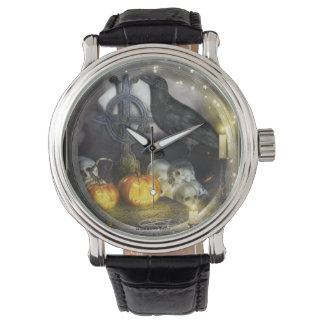 Mystical Raven Art Wrist Watch