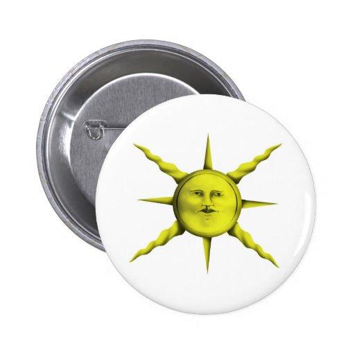 Mystical Shining Sun Button