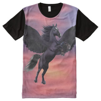 MYSTICAL SUNSET PEGASUS All-Over PRINT T-Shirt