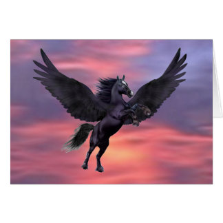 MYSTICAL SUNSET PEGASUS CARD