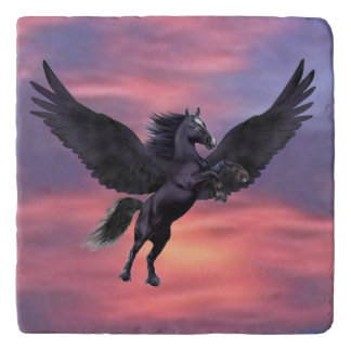 MYSTICAL SUNSET PEGASUS TRIVET