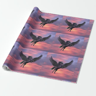 MYSTICAL SUNSET PEGASUS WRAPPING PAPER
