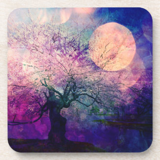 Mystical Tree and Night Moon Coasters