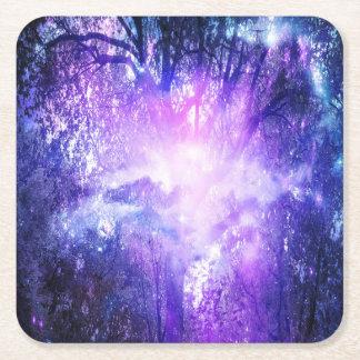 Mystical Tree Square Paper Coaster