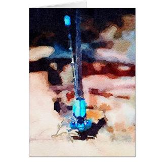 Mystical Waterlogue Damselfly Note Card