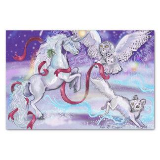 Mystical Winter Unicorn Tissue Paper