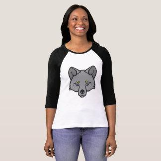 Mystical Wolf – Grey/Yellow T-Shirt