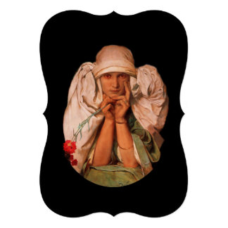 Mystical Woman with Carnation Invitations
