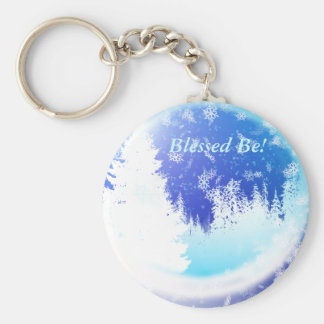 Mystical Woods Basic Round Button Key Ring