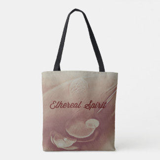 Mystical Yellow Ethereal Spirit Cinnamon Abstract Tote Bag