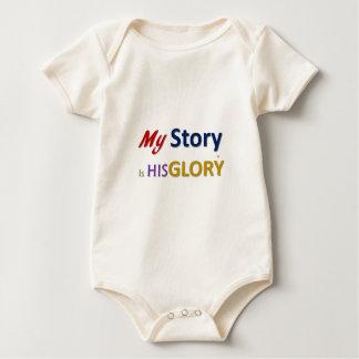 mystoryishisglory baby bodysuit