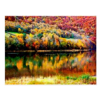 myszkowieckie lake postcard