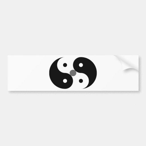 Myth/Logic Press Symbol in Black Bumper Stickers