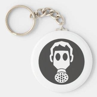 Mythbusters Gas Mask Basic Round Button Key Ring