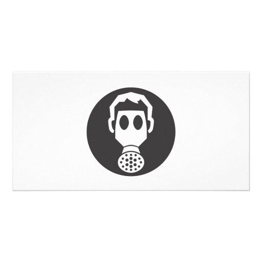 Mythbusters Gas Mask Customized Photo Card
