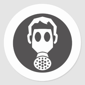Mythbusters Gas Mask Round Sticker
