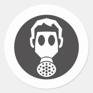 Mythbusters Gas Mask Round Sticker