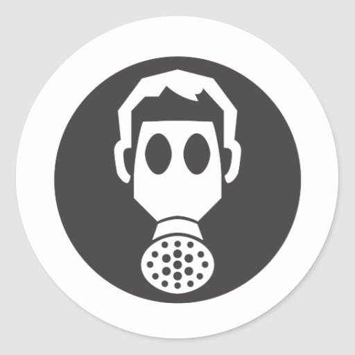 Mythbusters Gas Mask Stickers