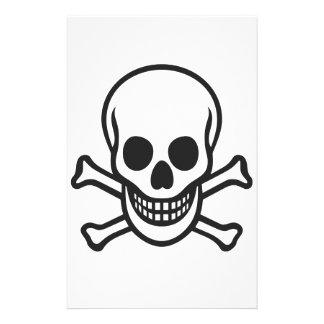 Mythbusters Skull Custom Stationery