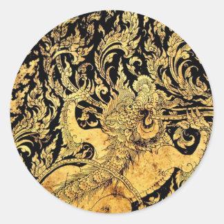 Mythic creatures of Thailand Round Sticker