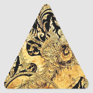 Mythic creatures of Thailand Triangle Sticker