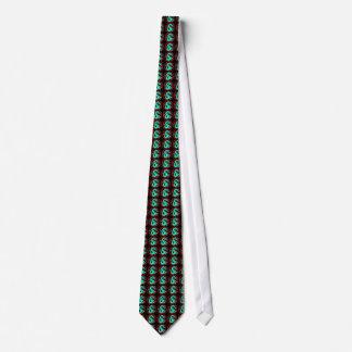 Mythical Blue Dragons Pattern Black Tie Fashion