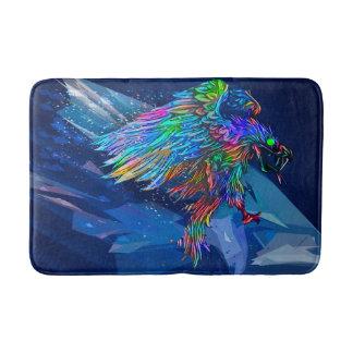 Mythical Crayon Colored Killer Eagle Bath Mat