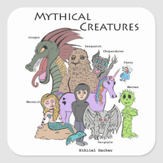 Mythical Creatures - Ethical Hacker - Sticker