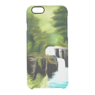 Mythical Green Fantasy Falls Clear iPhone 6/6S Case