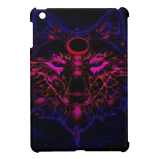 Mythical Neon Blue Wolf Case For The iPad Mini