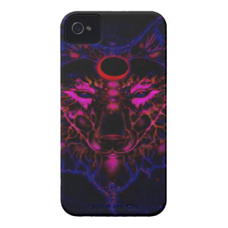 Mythical Neon Blue Wolf iPhone 4 Case-Mate Case