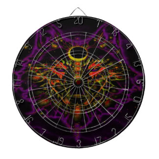 Mythical Neon Purple Wolf Dartboard