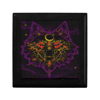Mythical Neon Purple Wolf Gift Box