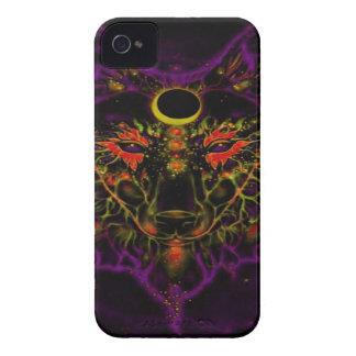 Mythical Neon Purple Wolf iPhone 4 Cover